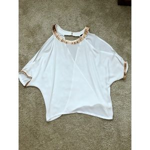 White/Gold Blouse (Size/S)